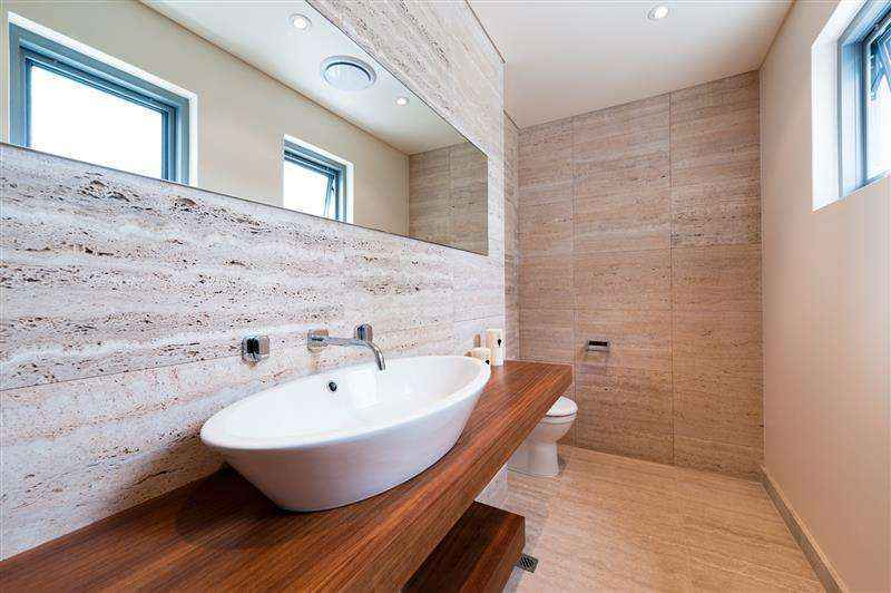 modern bathroom renovation with oval basin